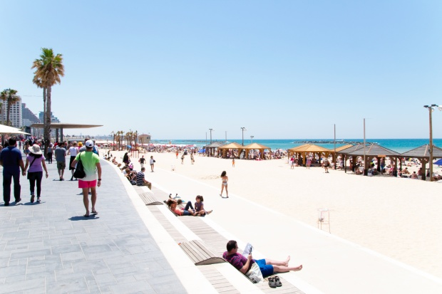 The Tayelet (Promenade) along Tel Aviv's beach
